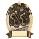 Gold swimming trophy